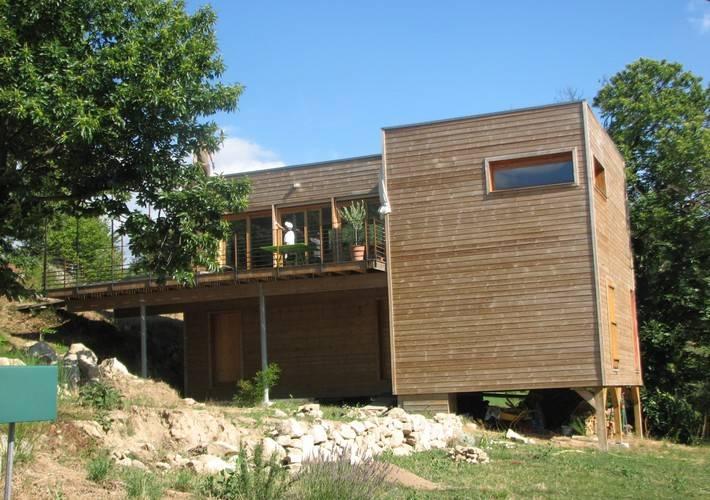 Célèbre Maison à ossature bois avec terrasse surélevée à Saint Apolinaire  LQ24