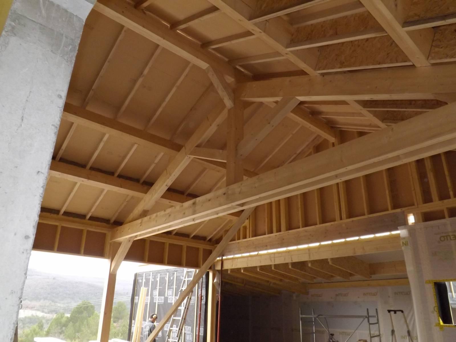 Maison ossature bois avec terrasse suspendueà Rochefort en Valdaine dans la Dr u00f4me Osébois # Maison Ossature Bois Drome