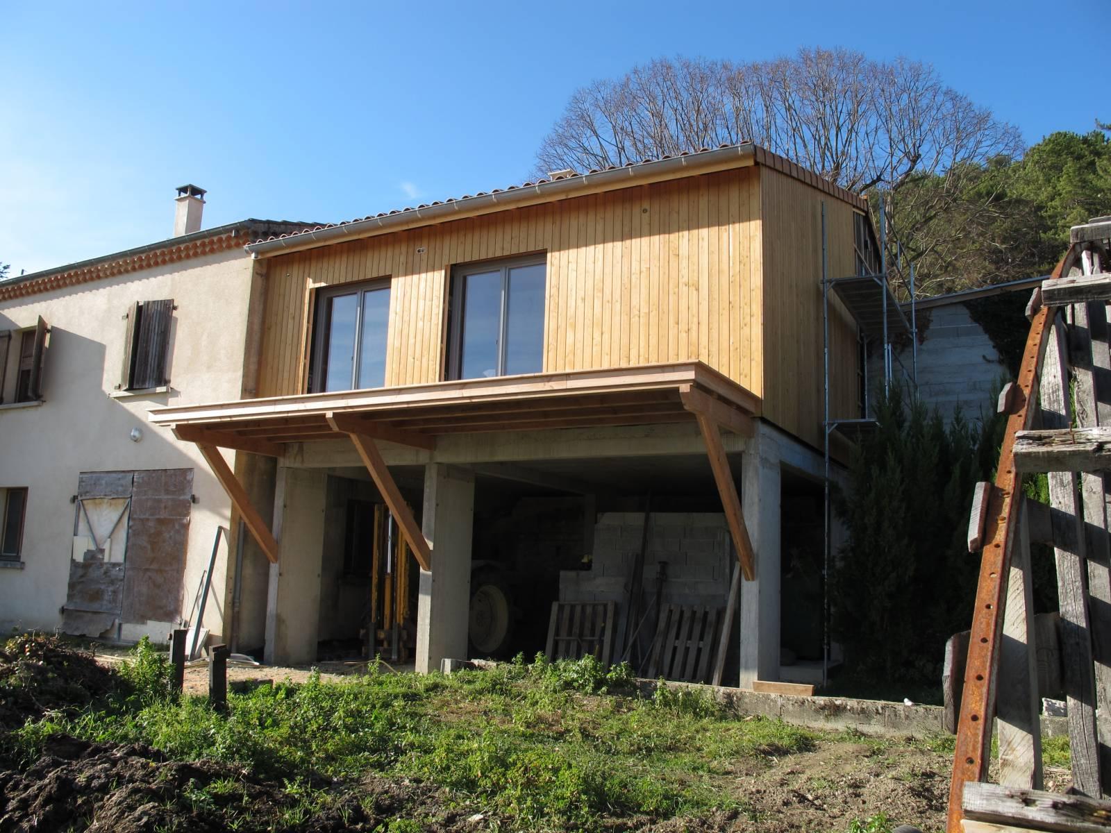Extension de maison suze 26400 os bois for Extension maison 95