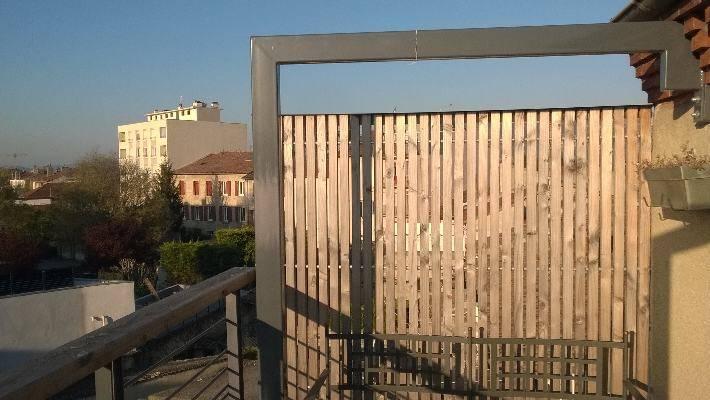 cr ation d 39 un balcon avec brise vue bourg les valence os bois. Black Bedroom Furniture Sets. Home Design Ideas