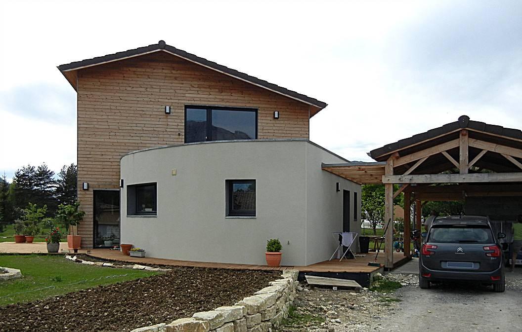 Maison ossature bois avec mur cintréà Die dans la Dr u00f4me Osébois # Maison Ossature Bois Drome